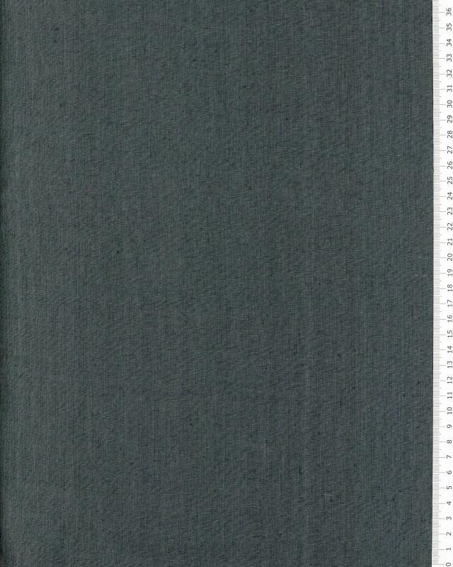 Toile de lin lavé en 300 cm Gris Anthracite - Tissushop