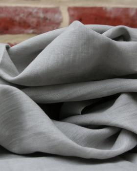 Washed linen fabric in 300 cm Pearl Grey - Tissushop