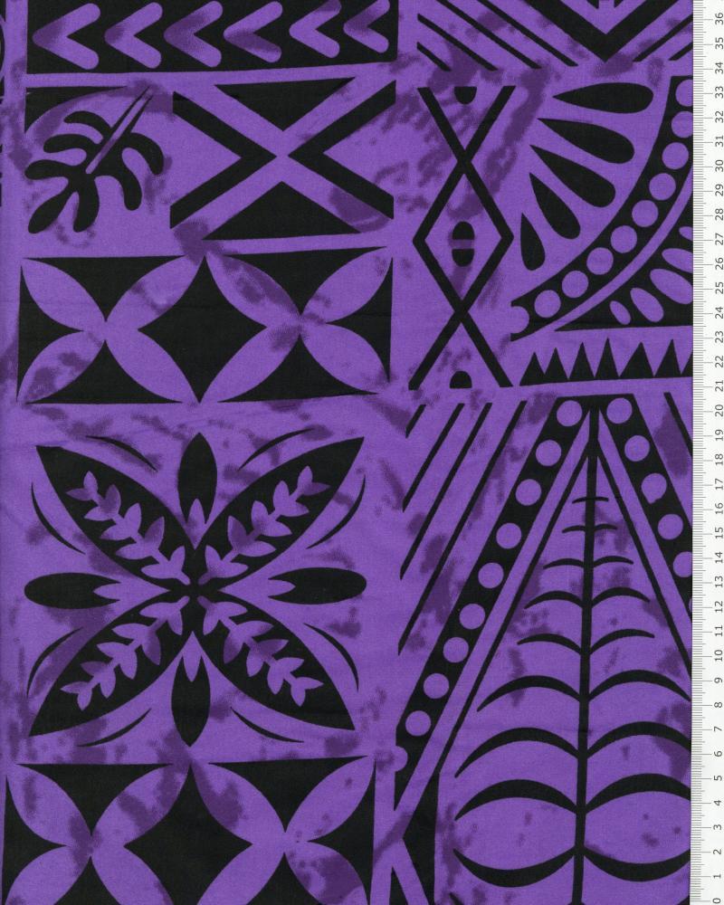 Tissu Polynésien METANI Violet - Tissushop