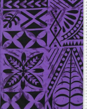 Polynesian Fabric METANI Purple - Tissushop