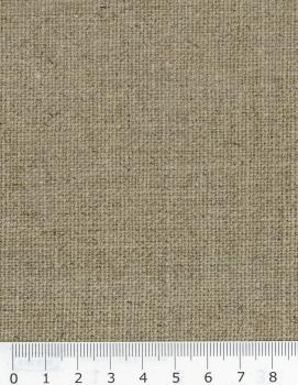 Unbleached linen fabric Wide grille Natural - Tissushop