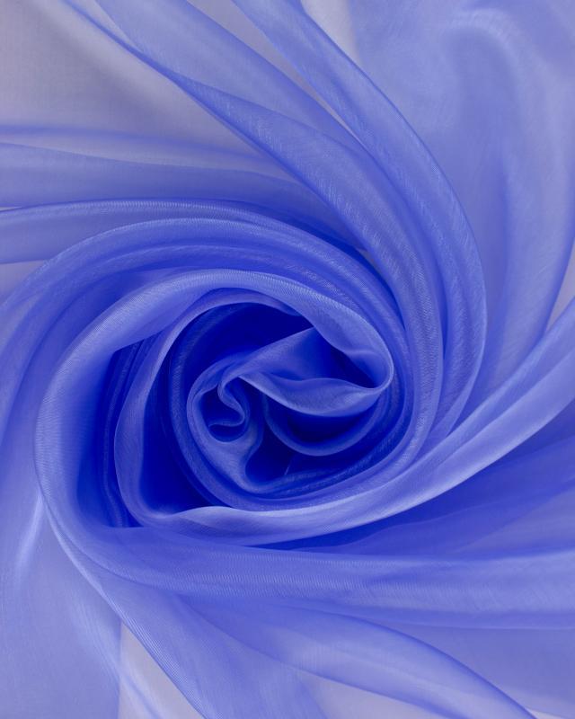 Organza large width Azure Blue - Tissushop