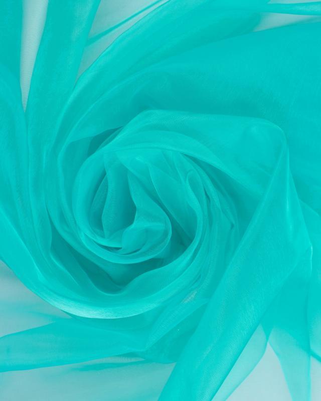 Organza grande largeur Vert Turquoise - Tissushop