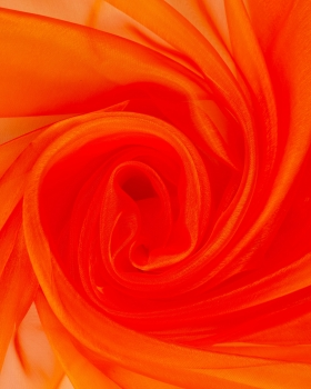 Organza large width Tangerine - Tissushop