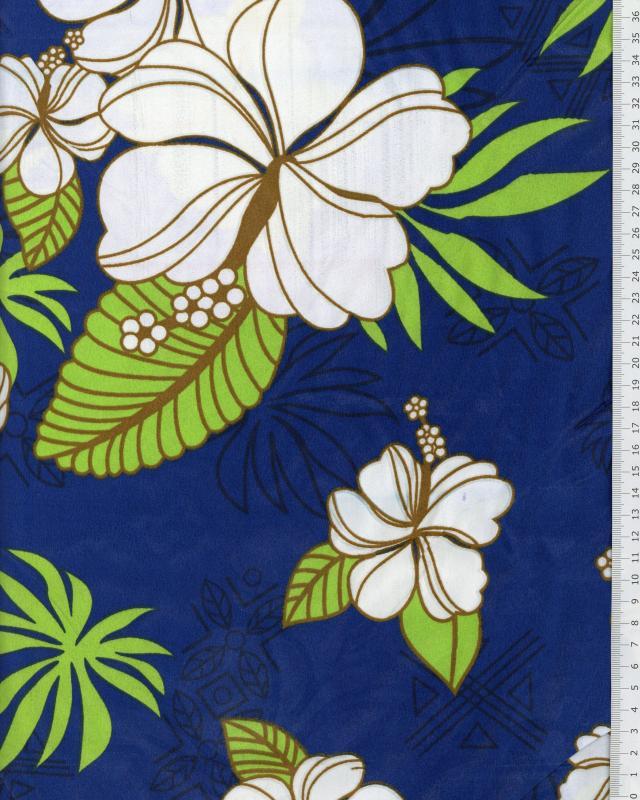 Polynesian Fabric RAHERA Blue - Tissushop