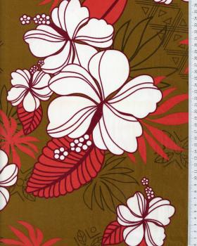 Polynesian Fabric RAHERA Brown - Tissushop