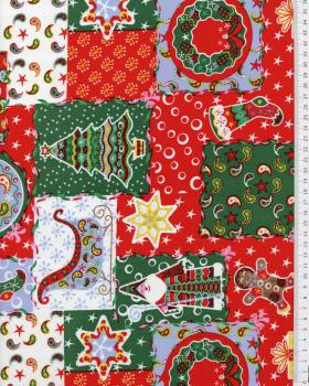 Christmas printed cotton Red - Tissushop