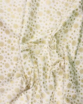 Cotton Flakes Pattern White - Tissushop