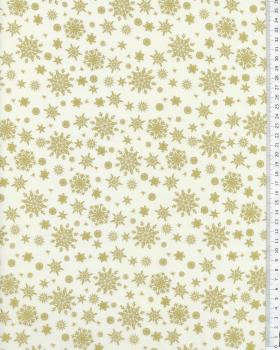 Cotton Flakes Pattern White - Tissushop
