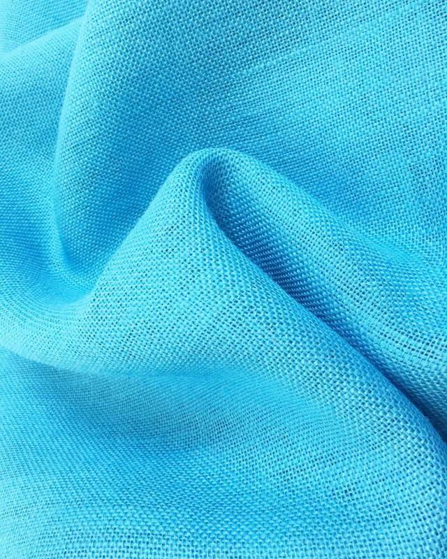Jute cloth - 330 gr/m² - 260 cm - Turquoise Blue - Tissushop