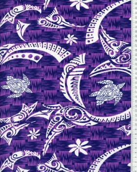 Tissu Polynésien VATEA Violet - Tissushop