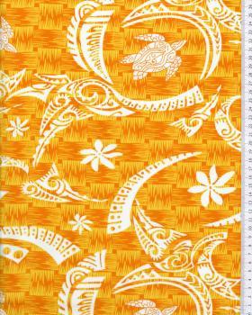 Polynesian Fabric VATEA Orange - Tissushop