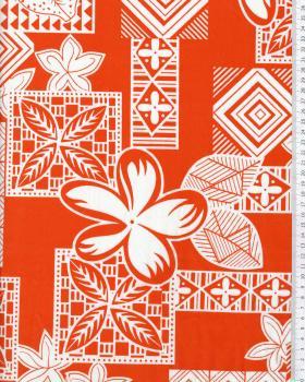 Tissu Polynésien HEIVA Orange - Tissushop