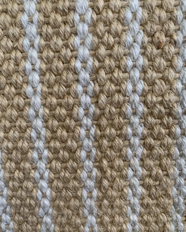 Very heavy Jute fabric - Dog training - 100 cm - stripe White - Tissushop