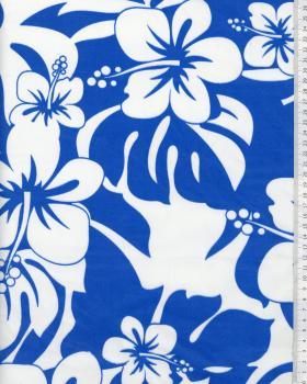 Tissu Polynésien URIMA Bleu - Tissushop