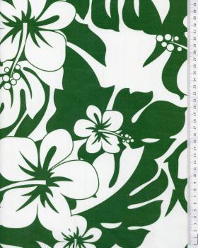 Tissu Polynésien URIMA Vert - Tissushop