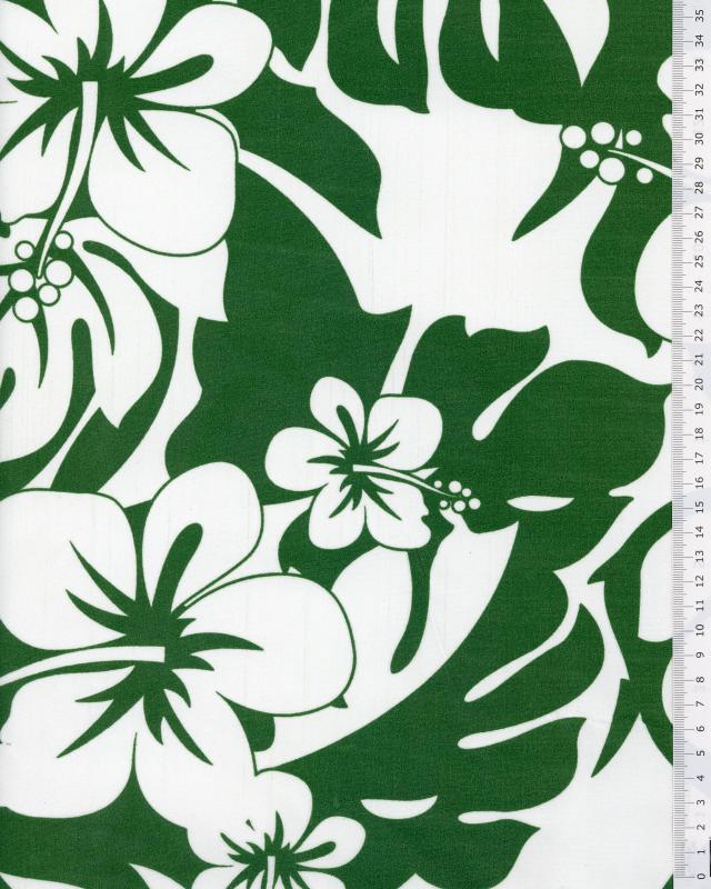 Polynesian Fabric URIMA Green - Tissushop
