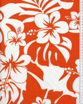 Tissu Polynésien URIMA Orange - Tissushop
