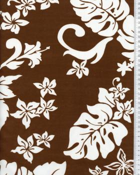 Polynesian Fabric TIMERI Brown - Tissushop