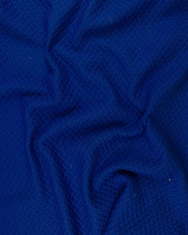 Matelassé Entrelacé Bleu Roi - Tissushop