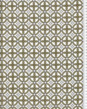 Crepe circle pattern Khaki - Tissushop