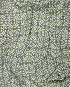 Crêpe motif rond Kaki - Tissushop