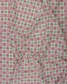 Crêpe motif rond Rose - Tissushop