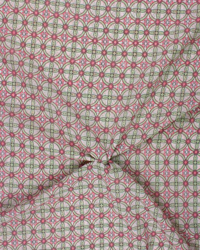 Crepe circle pattern Pink - Tissushop