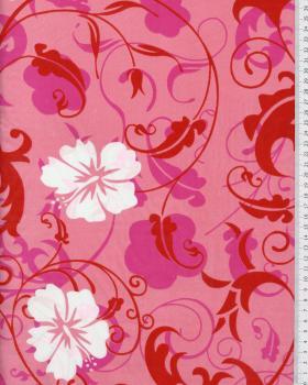 Tissu Polynésien REVA Rose - Tissushop