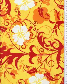 Tissu Polynésien REVA Jaune - Tissushop