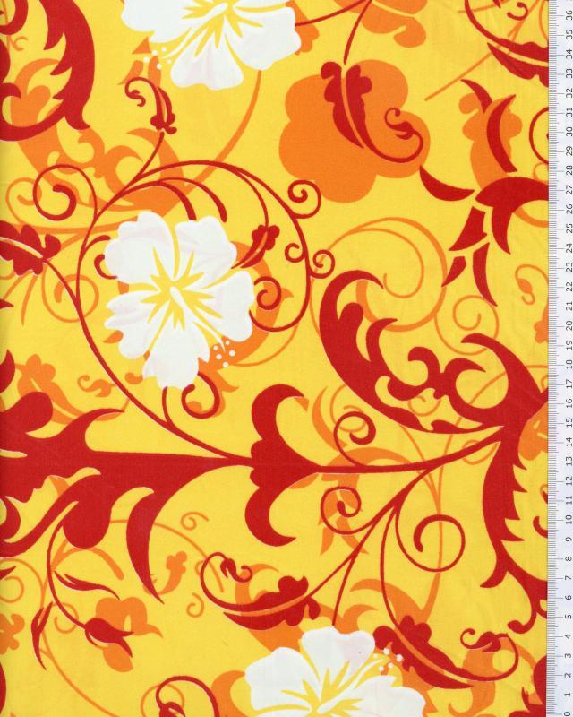 Polynesian Fabric REVA Yellow - Tissushop