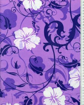 Tissu Polynésien REVA Violet - Tissushop