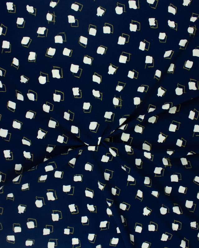 Crepe imprimé carré Bleu - Tissushop