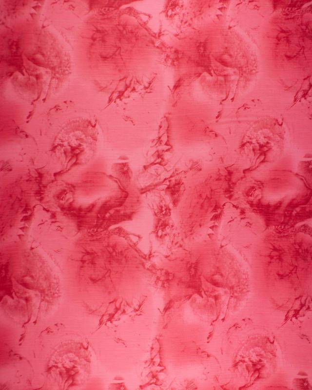Mousseline imprimé Maya Rouge - Tissushop