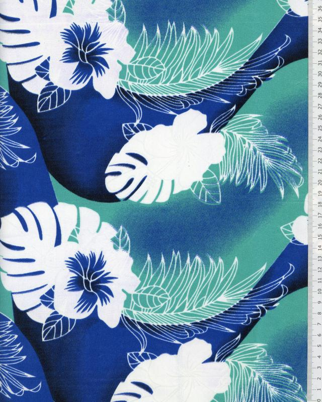 Polynesian Fabric POERANI Blue - Tissushop