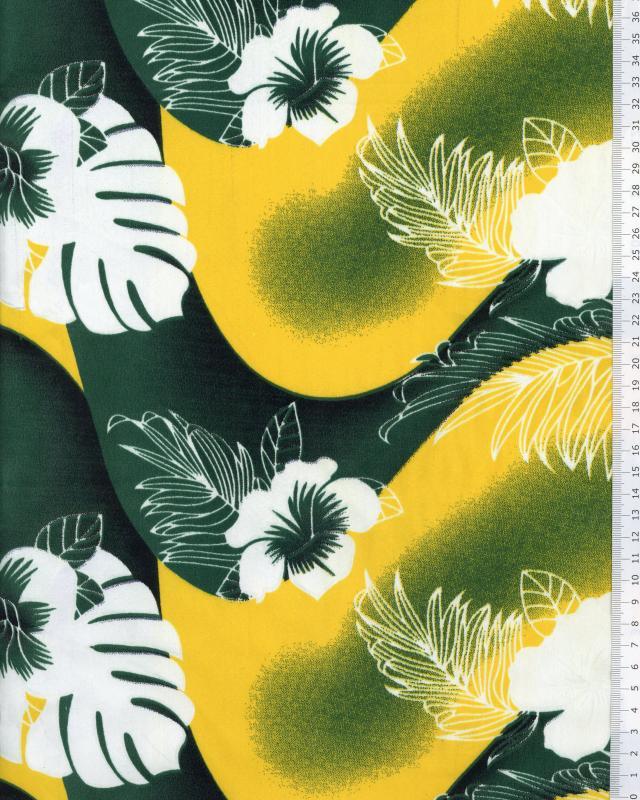 Polynesian Fabric POERANI Green - Tissushop