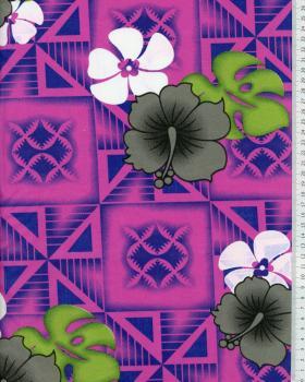 Tissu Polynésien NAURI Rose - Tissushop