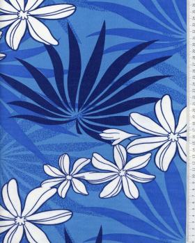 Tissu Polynésien MOENAU Bleu - Tissushop