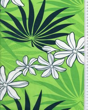 Polynesian Fabric MOENAU Green - Tissushop