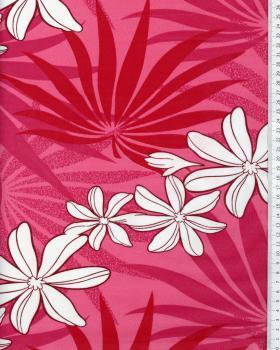 Tissu Polynésien MOENAU Rose - Tissushop