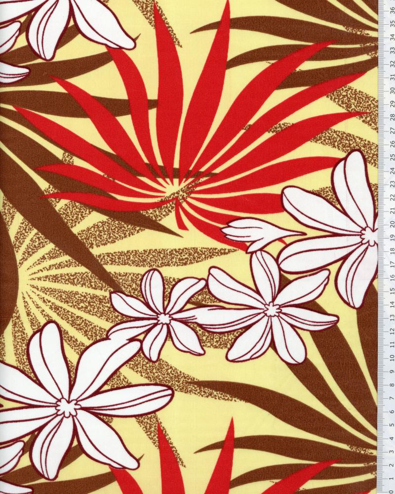 Polynesian Fabric MOENAU Yellow - Tissushop