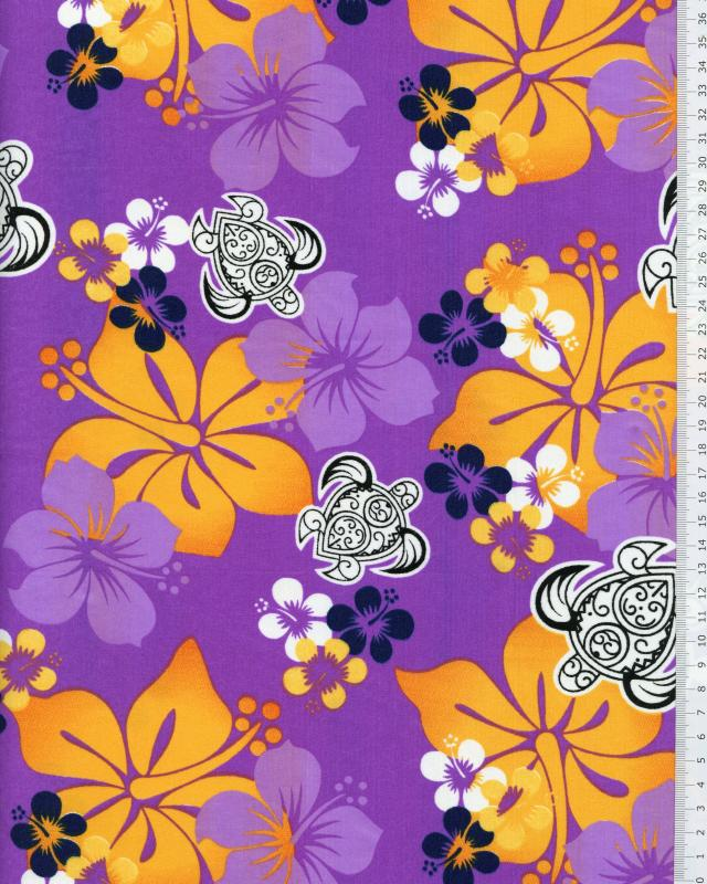 Polynesian Fabric HONU EREERE Purple - Tissushop