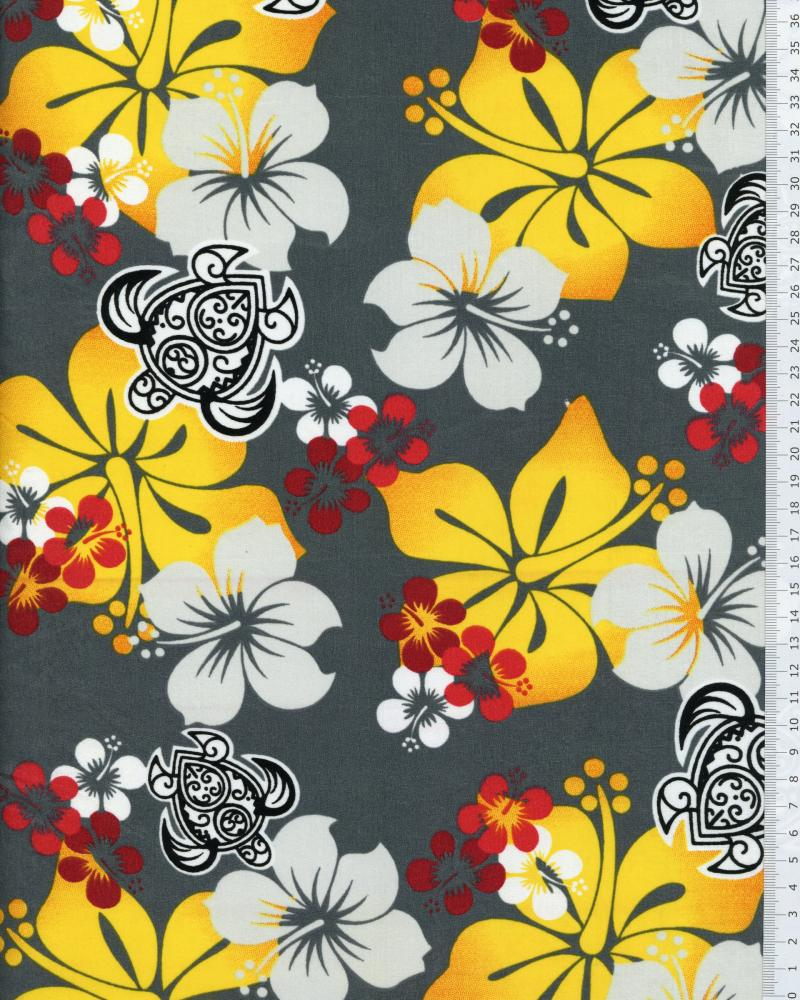 Polynesian Fabric HONU EREERE Grey - Tissushop