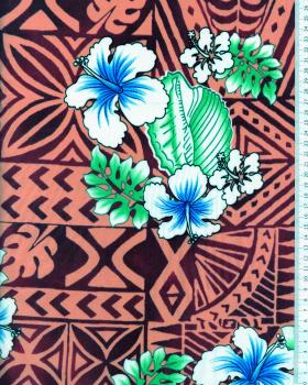 Tissu Polynésien HOANI Rose - Tissushop