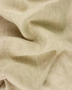 Cotton / Linen Herringbone reverse Esteria Natural - Tissushop