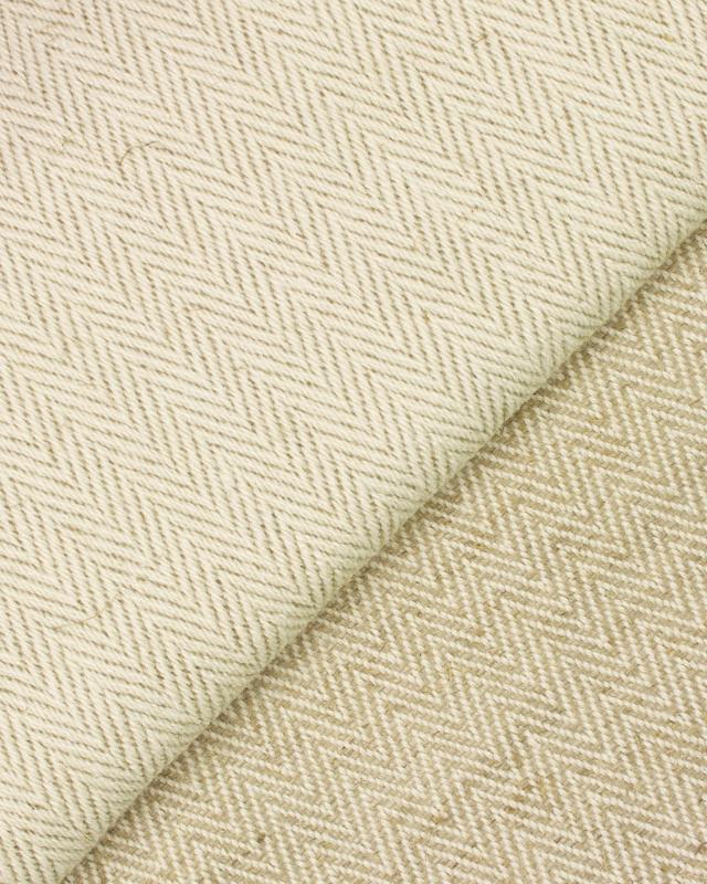Tapis Chevron Coton / Lin Réversible Esteria Naturel - Tissushop
