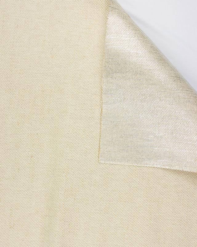 Métis coton/jute - 140 cm - Métallisé - Argent - Tissushop