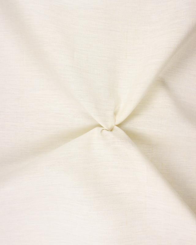 Toile de chanvre prête à teindre Blanc Cassé - Tissushop