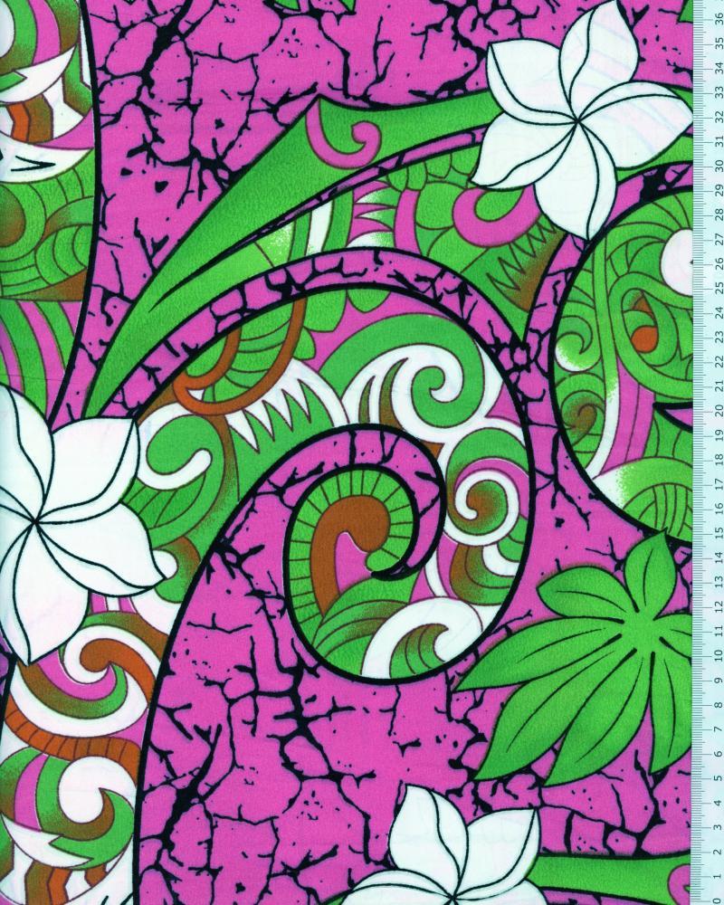 Polynesian Fabric AURERE Pink - Tissushop