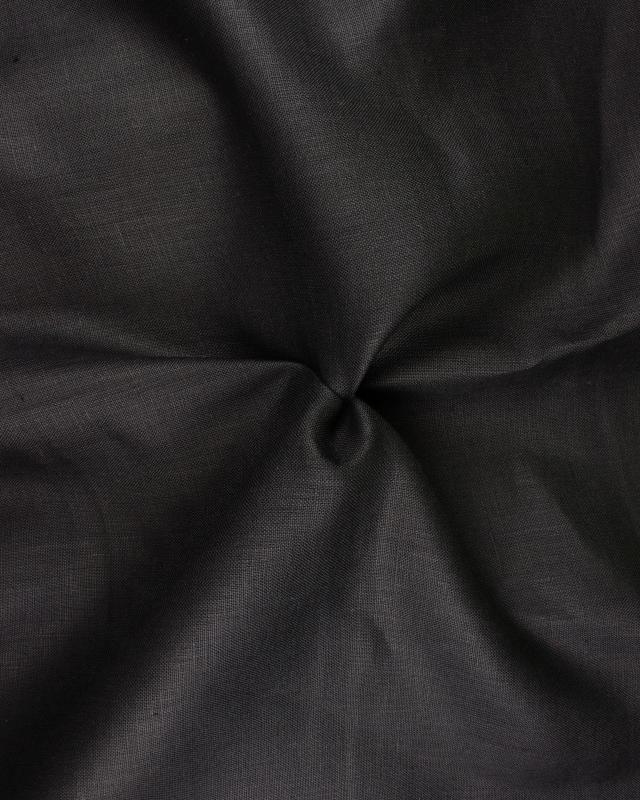 Linen fabric Telia in 300 cm Black - Tissushop